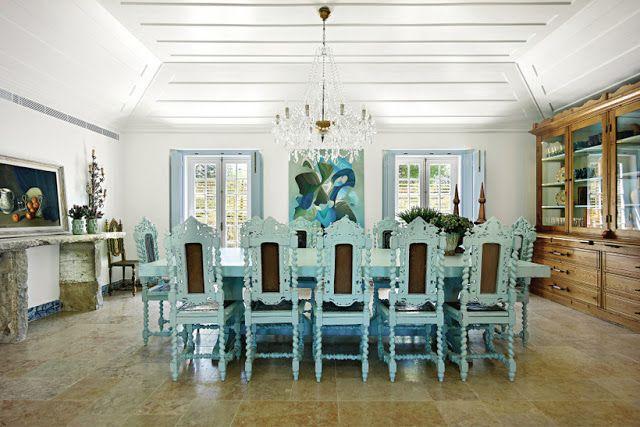 Casa de férias em modo azul ~ Decoração e Ideias - casa e jardim