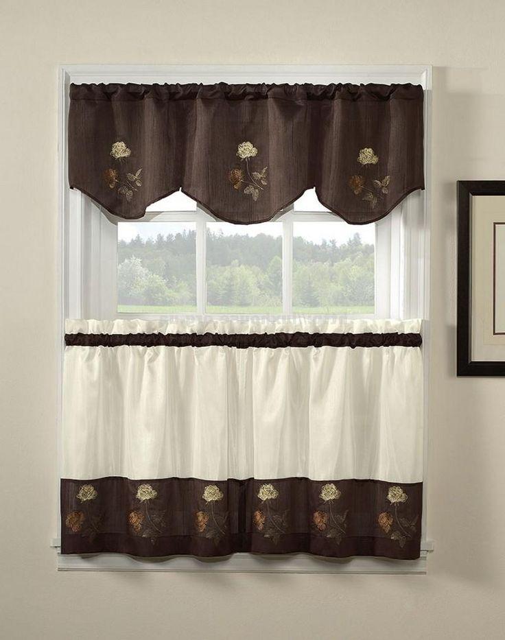 ... Занавески в кухню, коричневые, короткие, фото ...