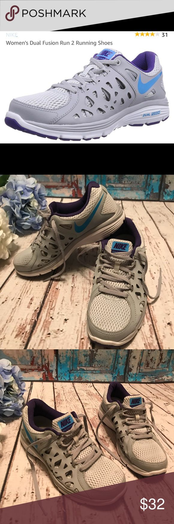 Nike dual fusion 2 women's running shoes Nike dual fusion 2 women's running shoes  Size 6.5 Almost New Very clean  Gorgeous and Comfy for your next run❤️ Nike Shoes Athletic Shoes