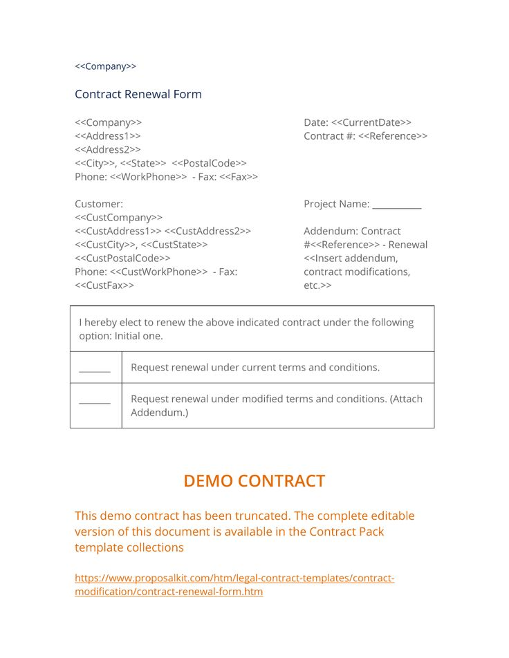7 best Contract Modification Documents images on Pinterest - project request form