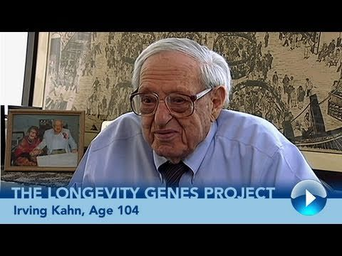 Irving Kahn, Age 104: Longevity Genes Project study participant and investment advisor Irving Kahn began his career before the stock market crash of 1929 and is widely respected in the field of value investing. In 1978, he founded Kahn Brothers Group, Inc., where he is still chair of the firm. He says it would be foolish to retire. #centenarian
