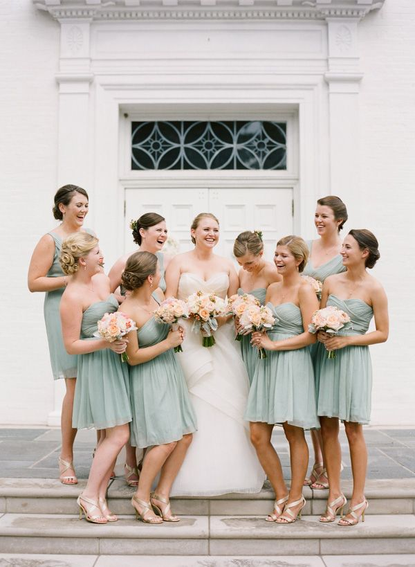 I've always thot I knew my wedding colors would be blush, but I'm really loving this grayed jade color!