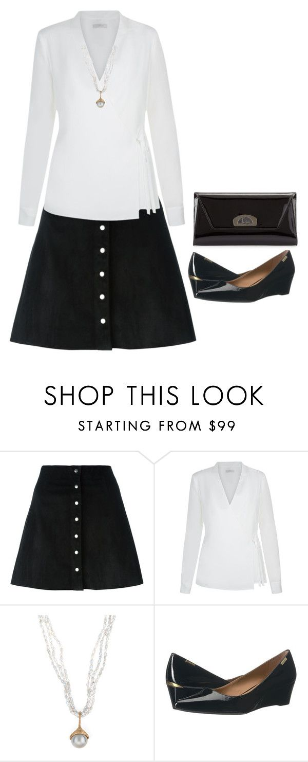 """""""Classic black and white"""" by mimi-briji on Polyvore featuring T By Alexander Wang, Hobbs, Calvin Klein and Christian Louboutin"""