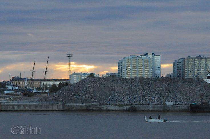 View from Korkeasaari Zoo bridge, Helsinki.
