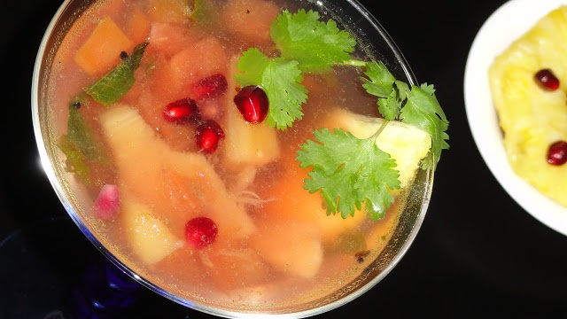 Pomegranate - Pineapple Rasam / Lentil Soup