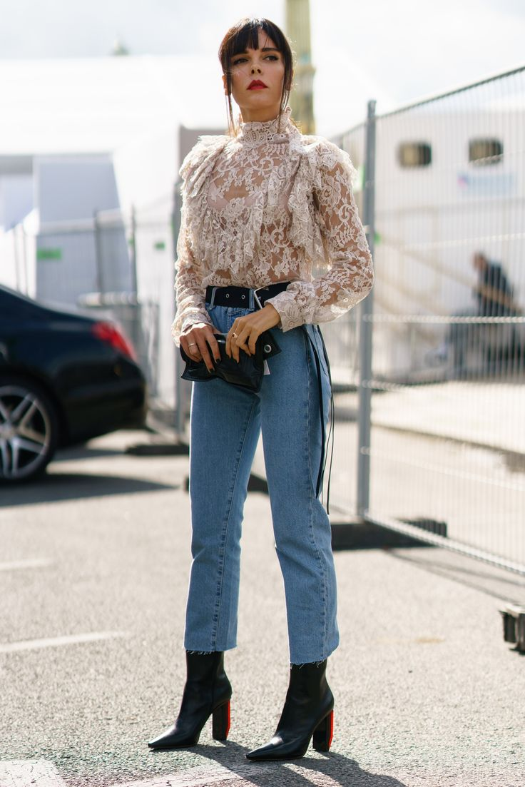 How to wear cropped jeans when it's freezing outside
