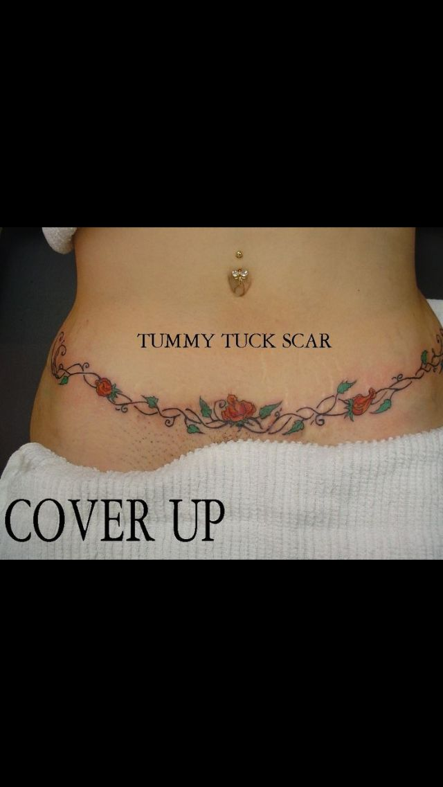 10 best tatoo images on pinterest tattoo ideas tummy for Tattoo over tummy tuck scar