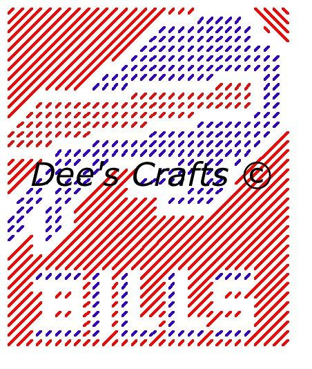 BUFFALO BILLS - Football Collection - Tissue Box Cover - Plastic Canvas Pattern by DeesCrafts2012 on Etsy