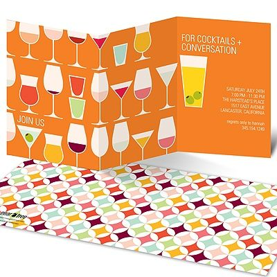 Cocktails and Convos -- Cocktail Party Invitations