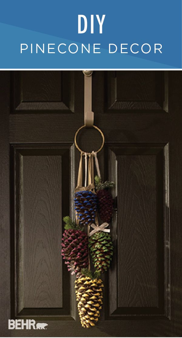 Rustic charm wrapped up in one easy craft project? Sign us up! This DIY pinecone decor is the perfect addition to your front door. Use BEHR Paint in Pyramid Gold, Mega Blue, Green Energy, Classic Berry, and Oriental Eggplant to add color to this creative decoration. Check out the full tutorial to see how you can create this project for your own home.