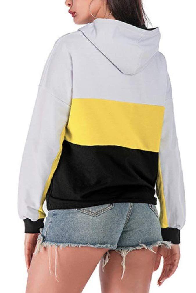 pipigo Women Coat Printed Zip Up Casual Hoodie Hooded Sweatshirt Coat Jacket