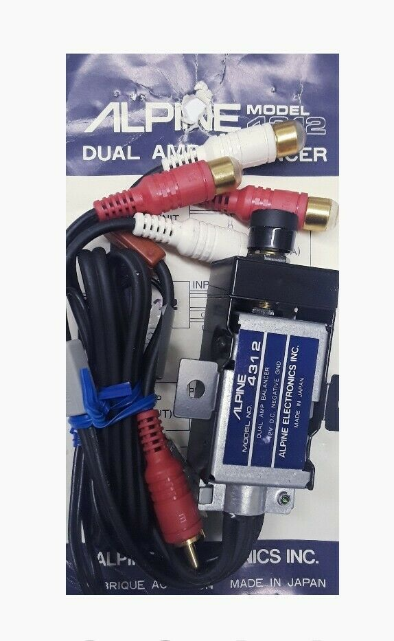 alpine 4312 dual amp balancer  brand new   alpine in