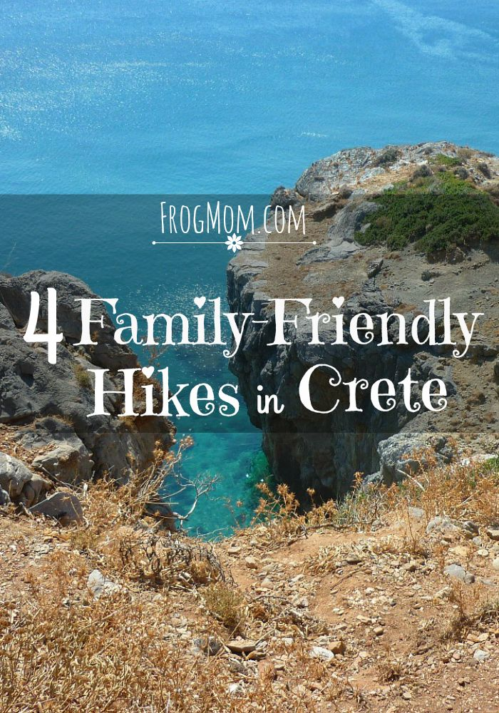 4 different hikes to enjoy beautiful landscapes and hidden swimming coves in Crete! Hikes range from short (0.5 mile) to long (10 miles) and are sorted by theme so you can choose the one that fits your mood. All kid- and grand-parent-approved. Crete offers beautiful trails to get in summer shape or just to see the island off the beaten path.