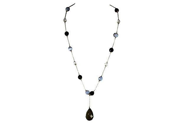 Rock Crystal & Labradorite Necklace