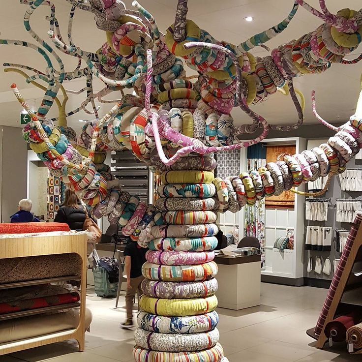 JOHN LEWIS High Wycombe UK The Scuptured Fabric Tree Pinned