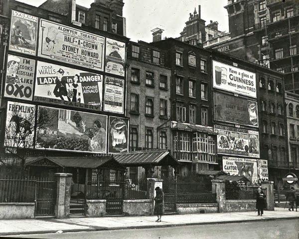 Hoardings in Knightsbridge, c. 1935