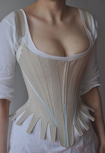 detail shots of a vintage corset from the 1700s.