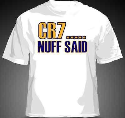 CR7...NUFF SAID Cristiano Ronaldo Shirt Real Madrid La Liga MENS & YOUTH SIZES