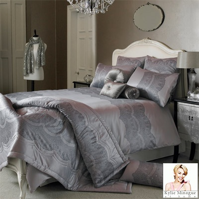 Fancy sharing your bed with Kylie?  Of course we can't offer Kylie herself but you can snuggle under this stunning Chantilly duvet cover from her range...
