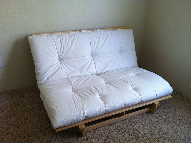 Queen size futon white mattress ikea futons pinterest for Sofa bed queen ikea