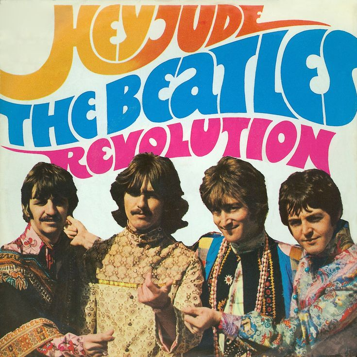 Apple's first single and The Beatle's top selling single. Hey Jude was recorded during White Album Sessions. The alternate recording of Revolution is the best known mix. The single image references the band's visit to India