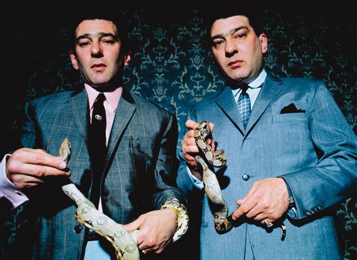 David Bailey, Kray Twins with Pet Snakes (1968)