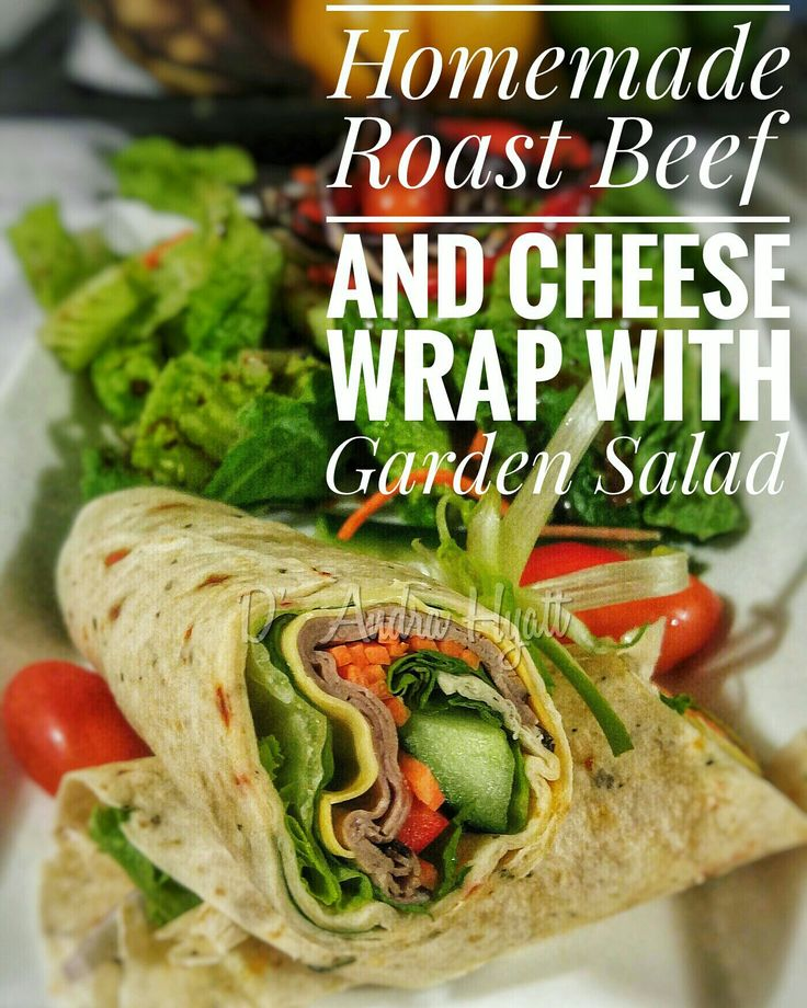 #roastbeef #beefwrap #salad #homemade