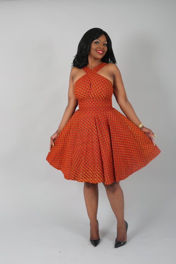 African clothing : NEW YVETTE handmade from authentic super wax print.african prints,ankara fabric,dresses (affiliate)