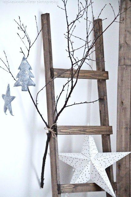 kersttakken met ladder, leuk!