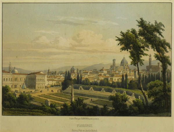 Florence. Palais Pitti Et Jardin Boboli