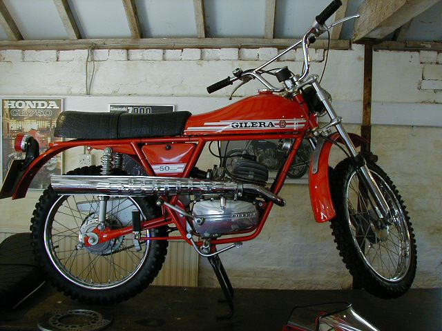1976 Gilera 50 Trail moped.