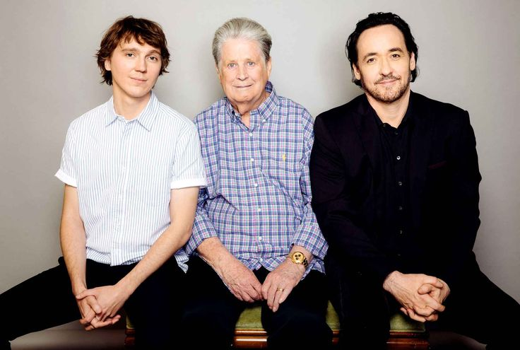 Brian Wilson of The Beach Boys with the two fantastic actors who portrayed him in the film Love & Mercy (2014), Paul Dano & John Cusack.