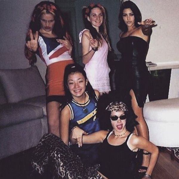 Kim Kardashian & Friends Dressed Up as Spice Girls in High School, as Seen in Throwback Photos | E! Online