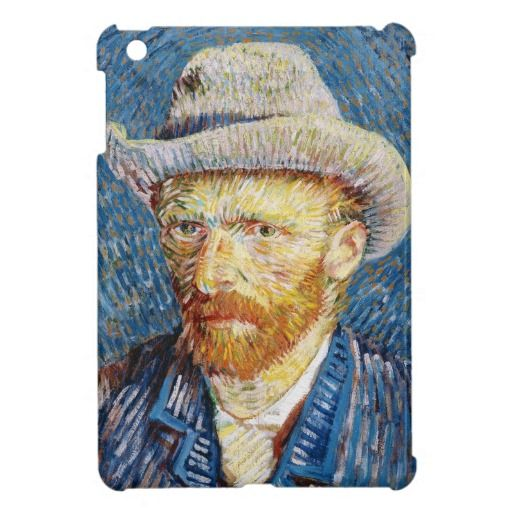 Self Portrait with Felt Hat Vincent van Gogh art Cover For The iPad Mini