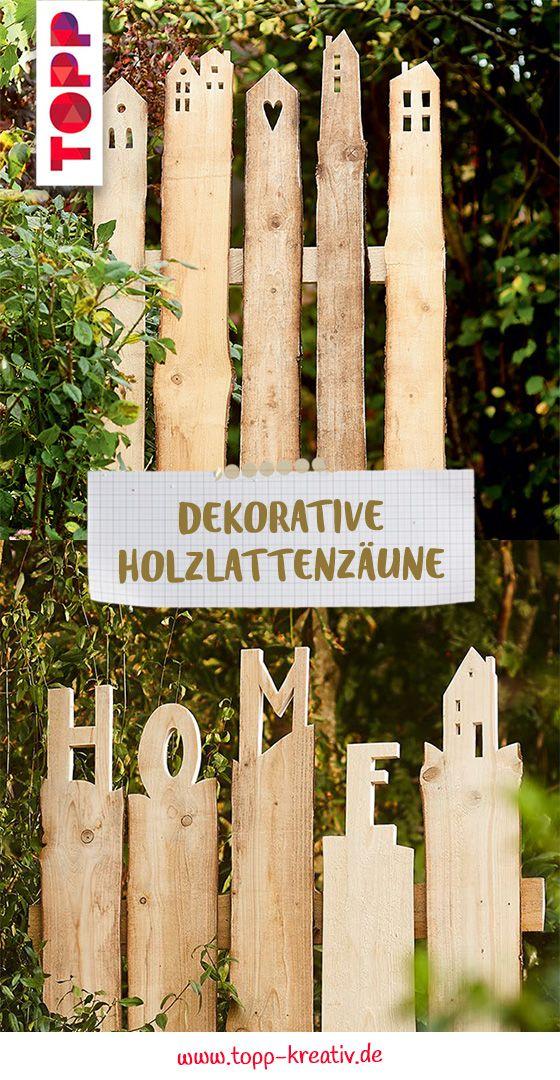 Dekorative Holzlattenzäune   – DIY Deko für Zuhause