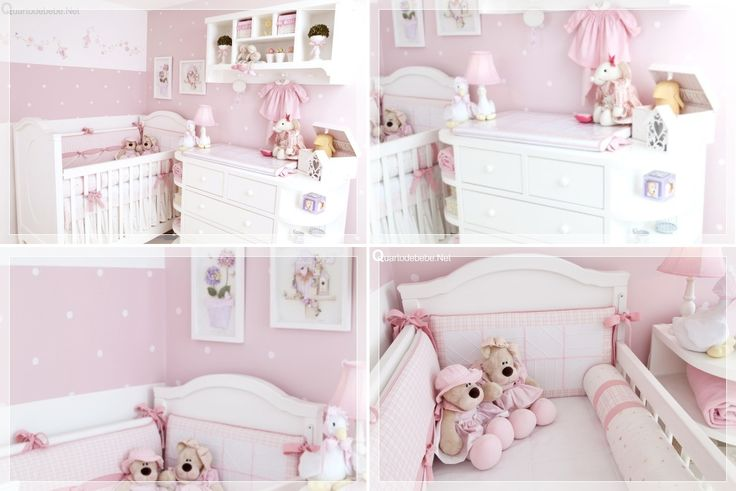 Decoração De Quarto Bebe Menina  Ideias para a casa  Pinterest  Quartos an