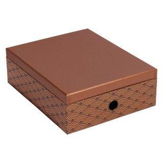 Copper foil scallop stationery box - All Filing & Storage - Filing & Storage - Stationery