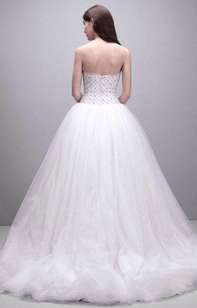 Вера Вонг свадебное платье А-силуэта из новой коллекции
