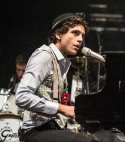 Mika playing in Paris, Place de la Bastille Tuesday 21st May 2013