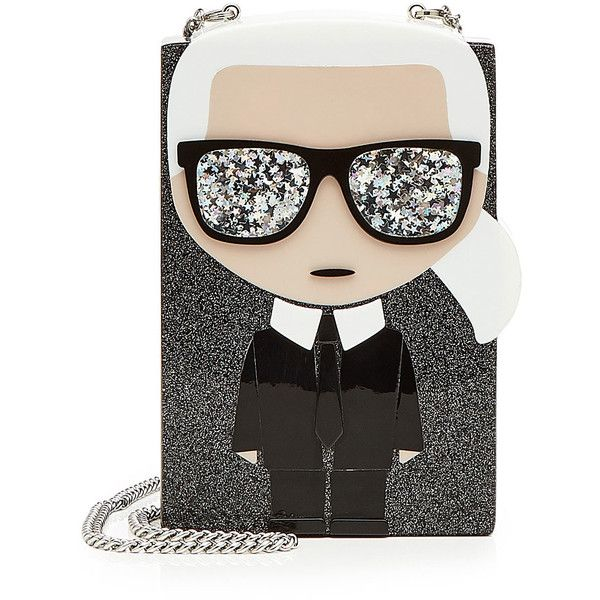 Karl Lagerfeld K/Ikonik Glitter Box Clutch (620 PEN) ❤ liked on Polyvore featuring bags, handbags, clutches, multicolored, multi color purse, colorful handbags, multi coloured handbags, multi colored purses and karl lagerfeld handbags