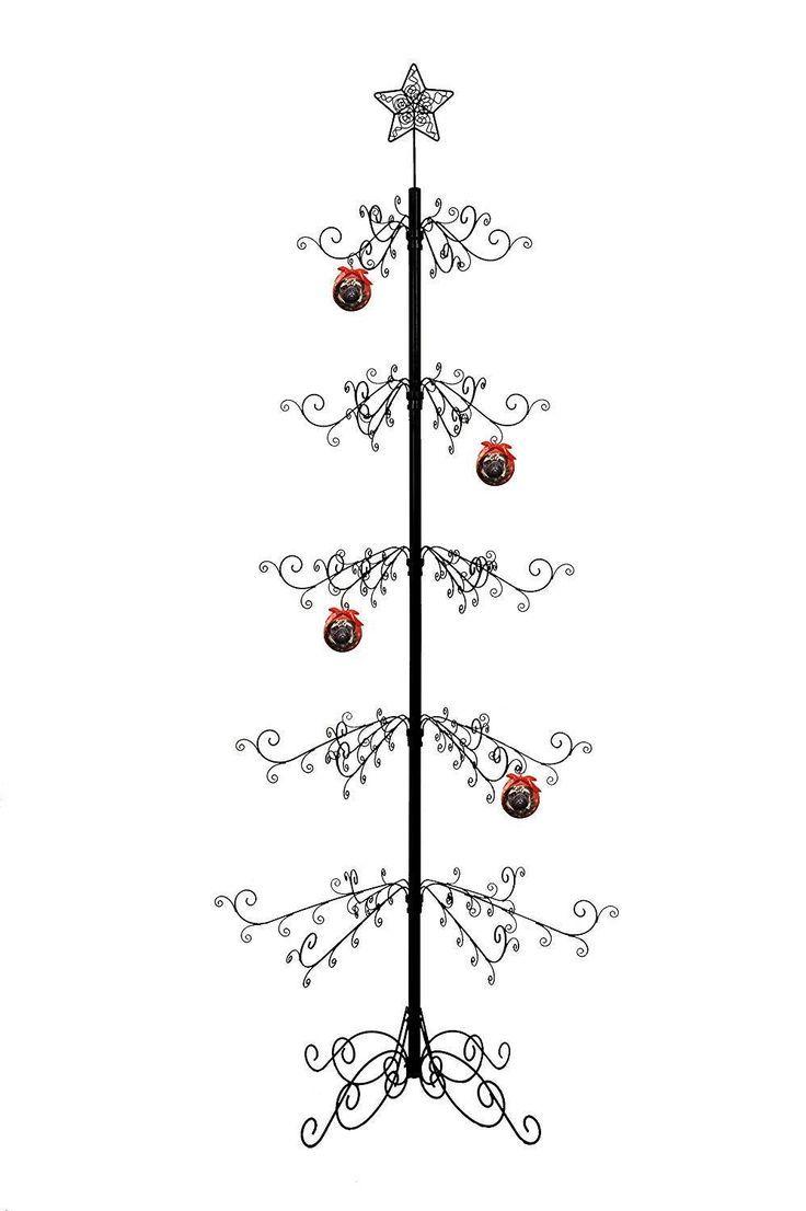 Details About Metal Ornament Tree Display Stand Wrought Iron Christmas Trees 174 Hook 84 H Mit Bildern Dekoration Dekorieren See