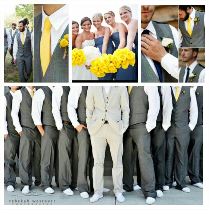 Gray Navy And White Bedroom: Navy Blue, And Grey Wedding. I Like That The Groomsmen Are