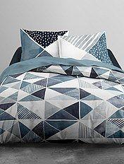 Maison Parure de lit 2 personnes imprimé géométrique - Kiabi