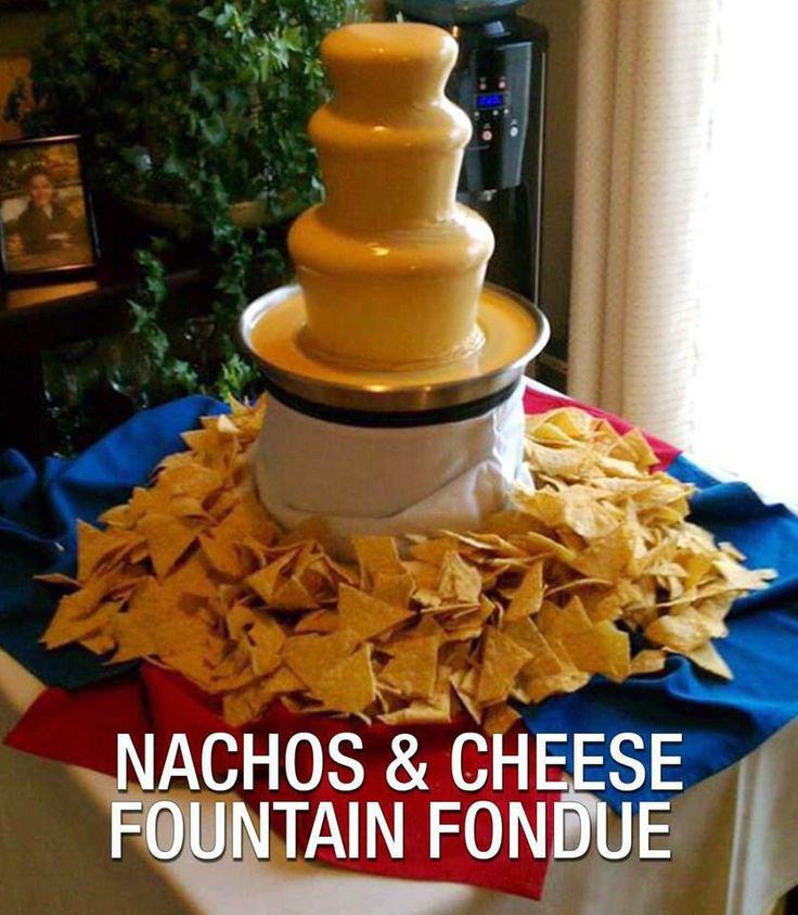 Nacho cheese fountain