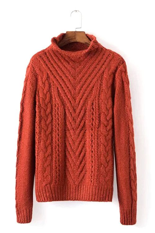 A must-have during these cooler months ahead, this sweater features a chunky cable knit design. It's completed with a high neck, long sleeves, and ribbed…