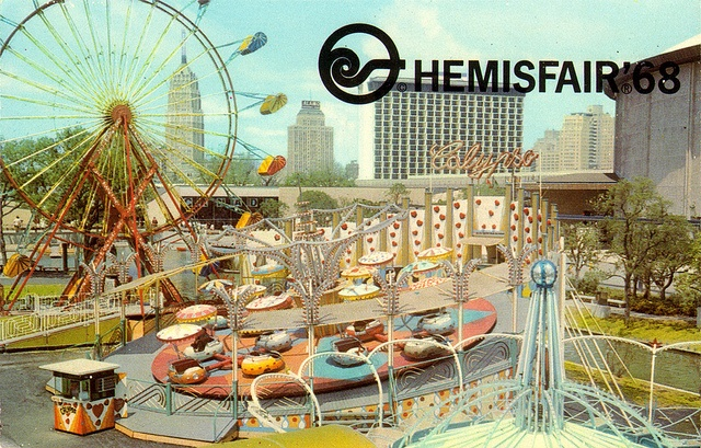 1968 World S Fair Hemisfair Fiesta Island Tx Postcards