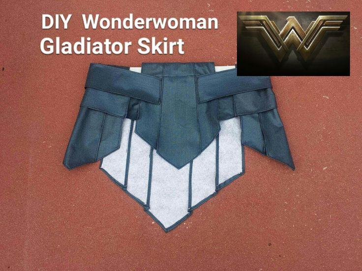 DIY Wonder Woman Gladiator skirt. Wonder Woman Cosplay Part 1