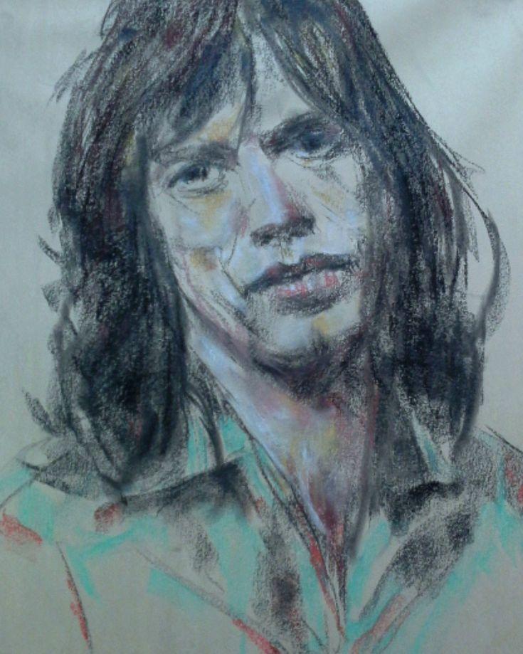 Mick Jagger Pastel
