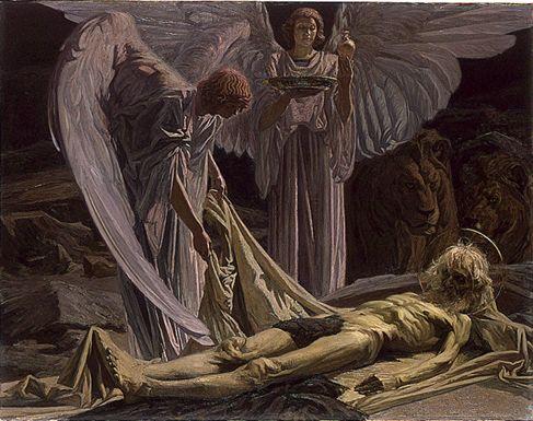 Ensevelissement de Saint Antoine d'Emile Beaume, 1921, huile sur toile, Ecole Nationale Supérieure des Beaux-Arts de Paris.