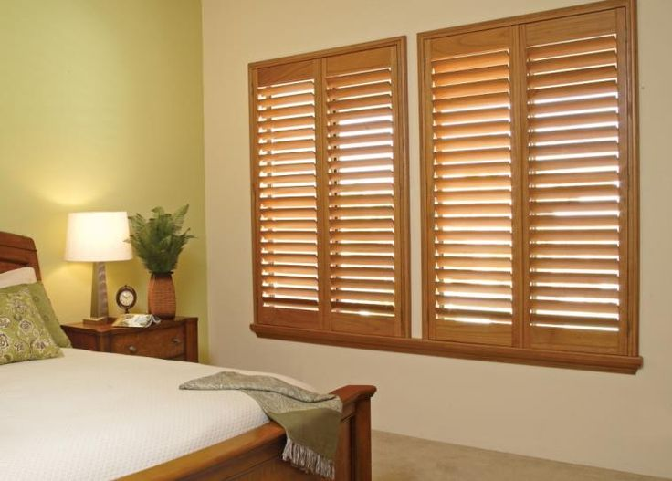 Natural finish plantation shutters budgetblinds for Stylish window shades